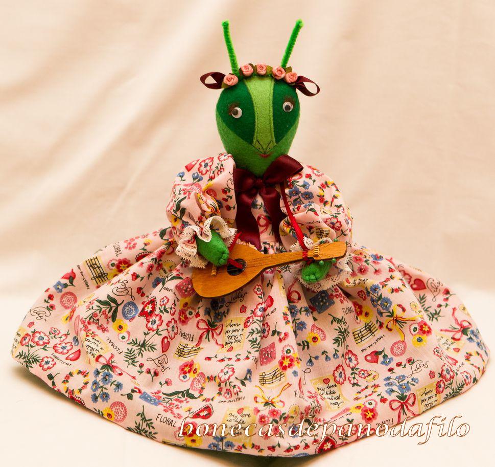 Adesivo Para Envelopamento De Geladeira Rj ~ Lojinha das Bonecas da Filó Artesanato de bonecas de pano A Cigarra e a Formiga
