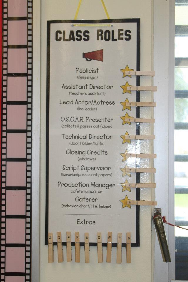 Classroom Job Ideas For 4th Grade ~ Lights camera action learn my hollywood classroom
