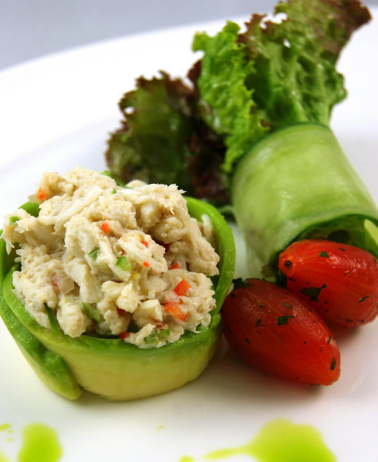 ... crab and avocado salad lime crab salad in avocado halves crab cakes