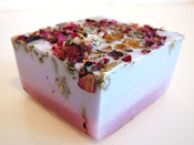 Lilac Rose Vegan Handmade Soap, made with real roses