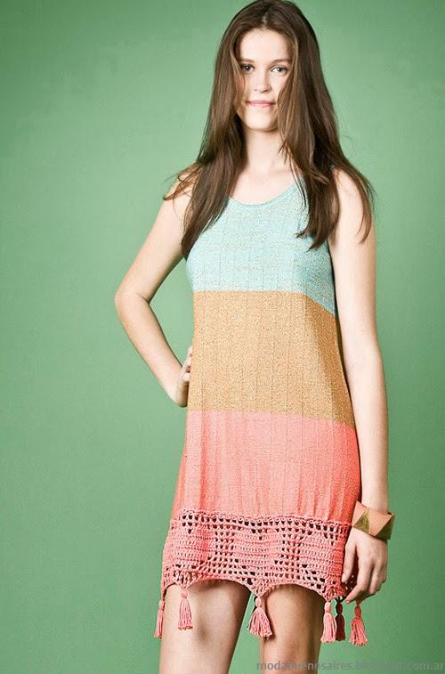 Moda Tejidos verano 2014 vestidos. Agostina Bianchi primavera verano 2014 colección.