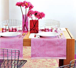 On a budget use a theme color for some extra oomph votives place