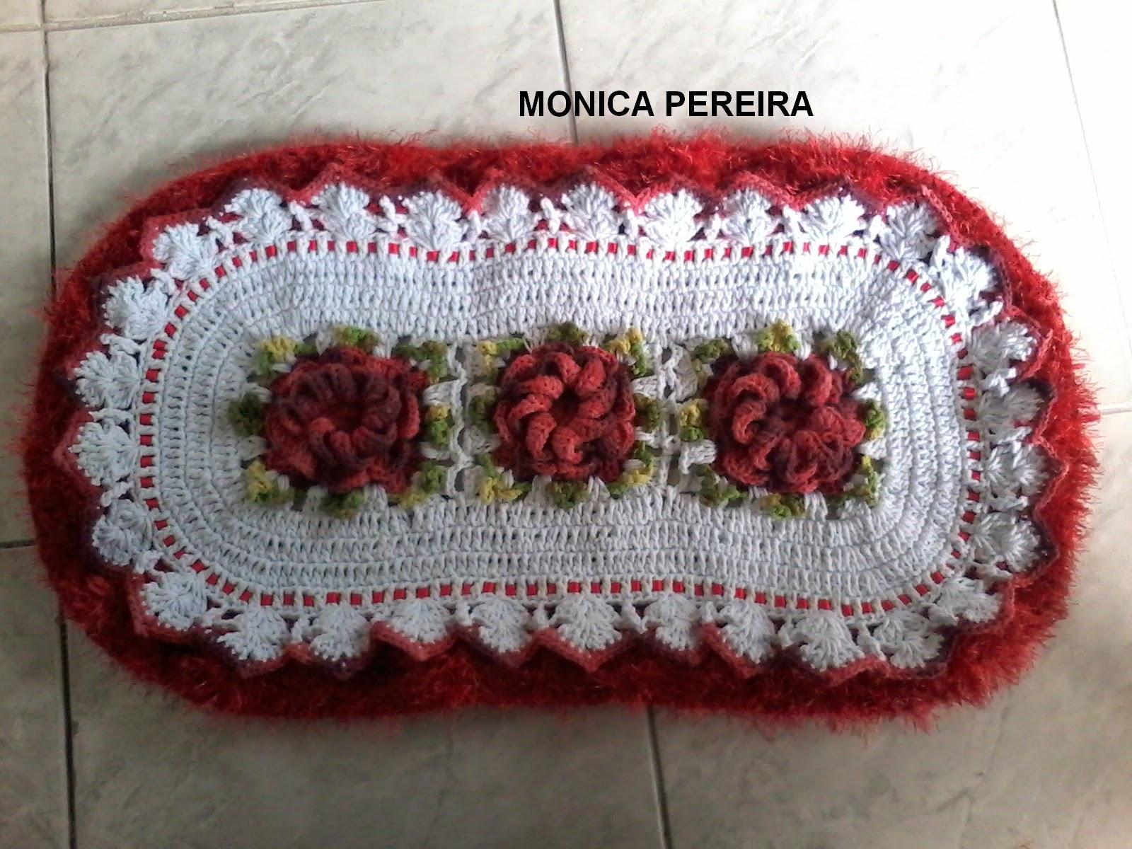 Jogos De Banheiro Vermelho E Branco : Artesanato mony croch? com amor jogo de banheiro vermelho