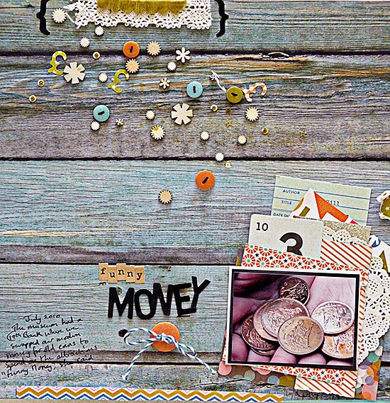 From High In The Sky: Scrapbooking a trail of embellishments for Get It Scrapped