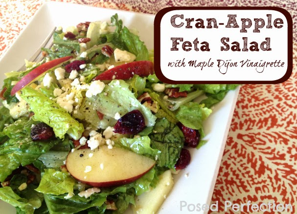 Posed Perfection: Cran-Apple Feta Salad with Maple Dijon Vinaigrette
