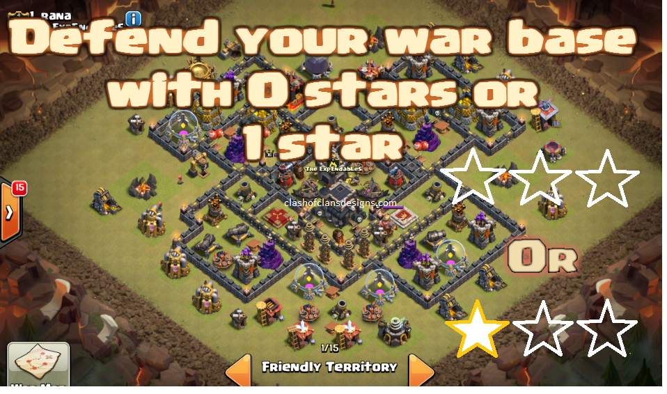 Defend every war attack on your town hall 9 war base coc designs