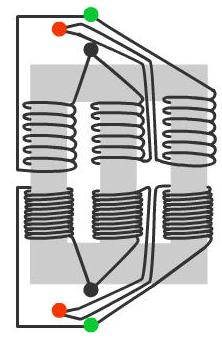 Konstruksi Transformator Tiga Fasa