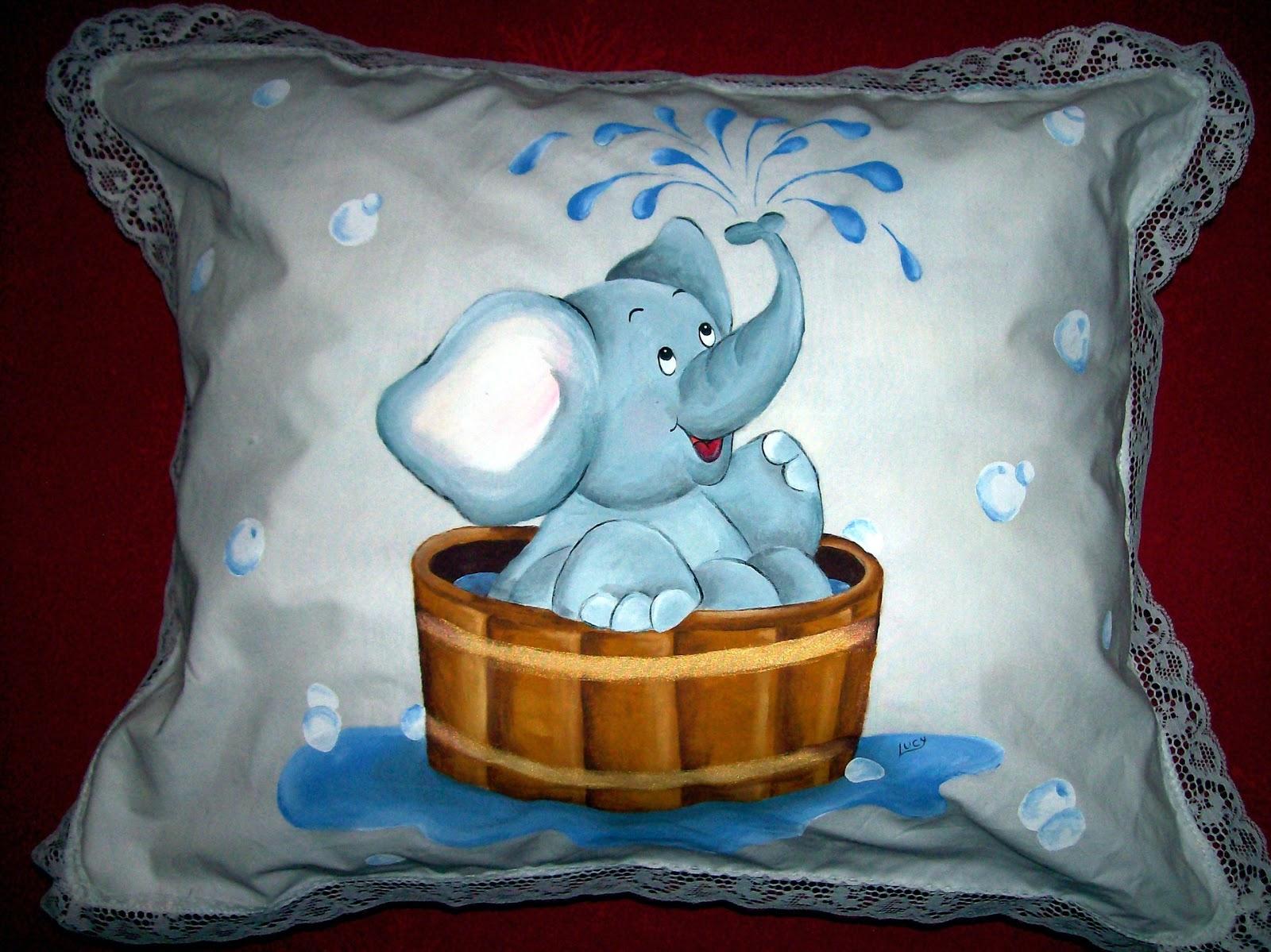 El arte de lucy almohadoncitos tiernos para bebes - Dibujos para pintar en tela infantiles ...
