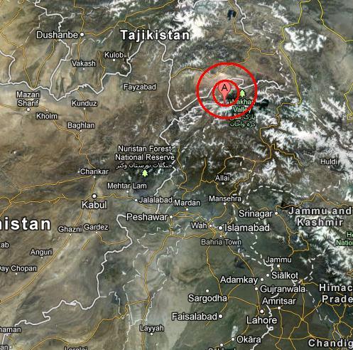 NORTHWESTERN KASHMIR INDIA earthquake 2012 November 09