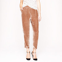 J. Crew Collection Cropped Velvet Pant