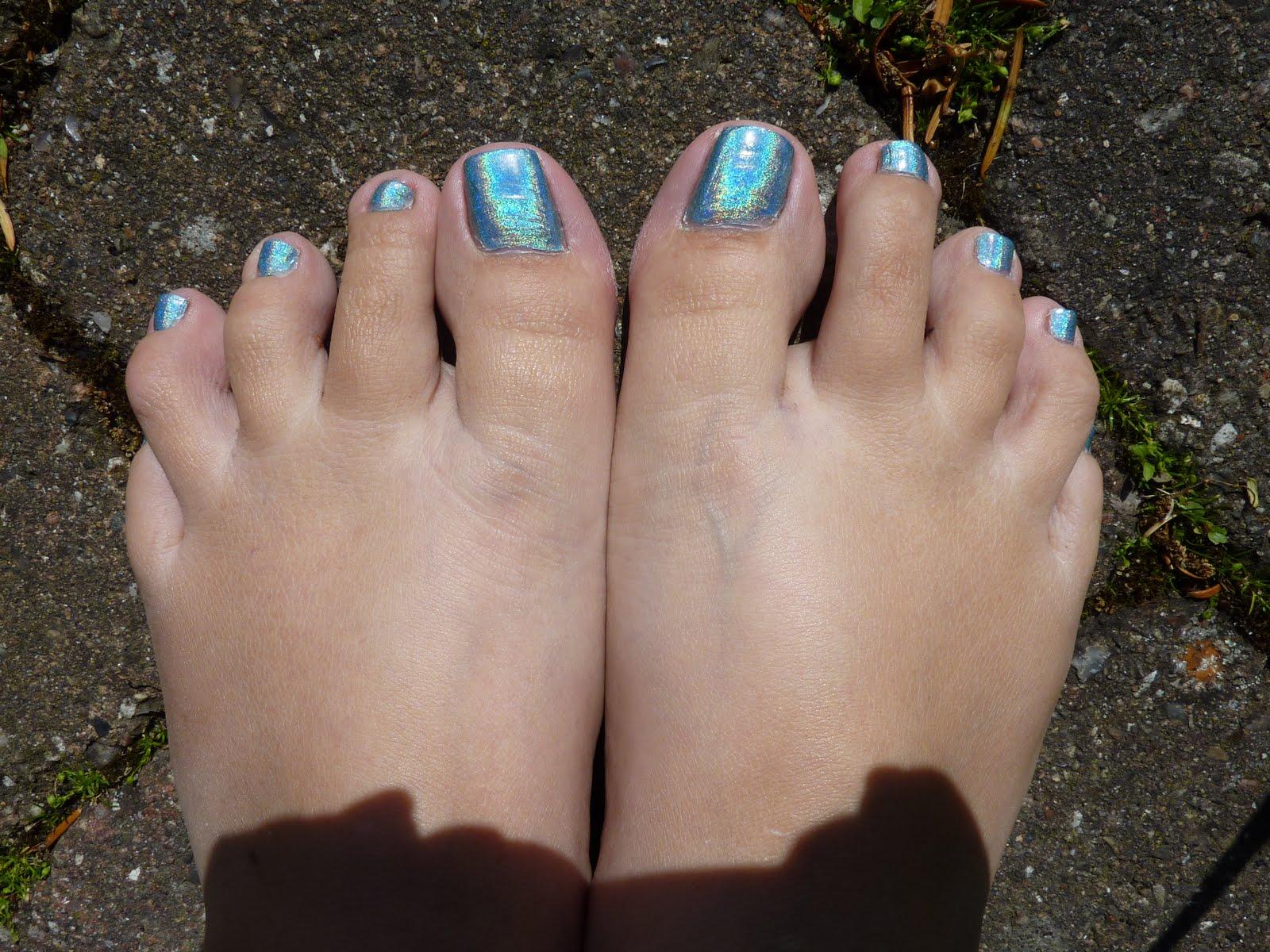 blå tæer