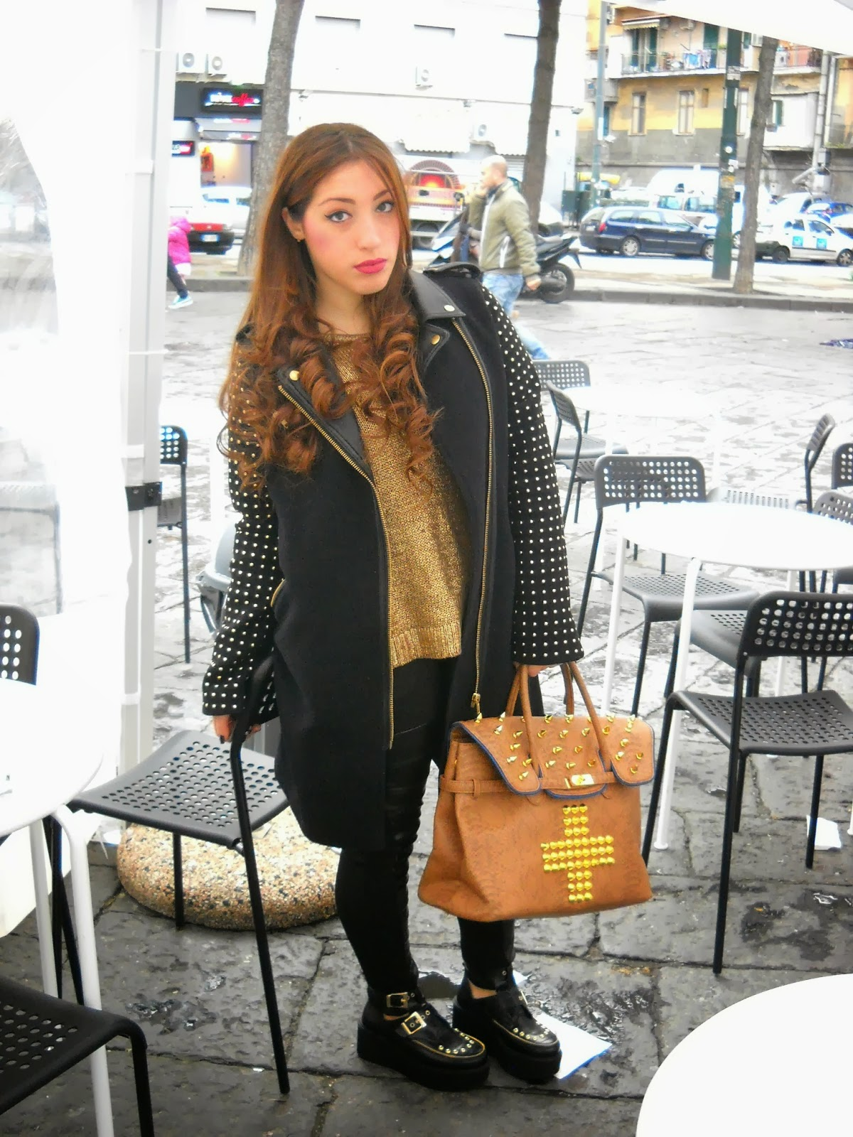 This is my style by martina caruso outfit giocato sull 39 effetto ottico black and gold - Lia diva calzature ...