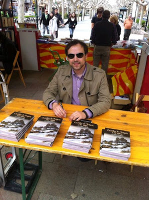 Firma en la I Feria del Libro en Calatayud