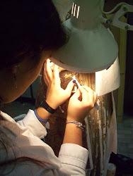 Colaborando en la Facultad de BBAA, clases de Tratamiento de Pintura y Escultura de 5º