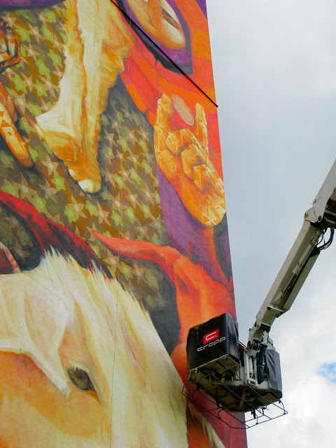 Street Art By Chilean Urban Artist INTI on the streets of Lodz For Fundacja Urban Forms 2013. 6