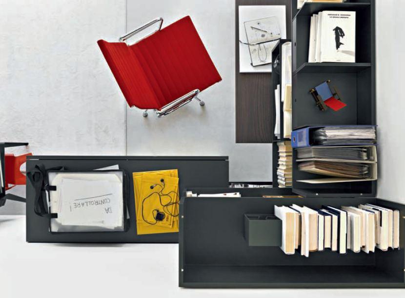 soggiorno con angolo studio - pescara loves fashion - Zona Studio In Soggiorno