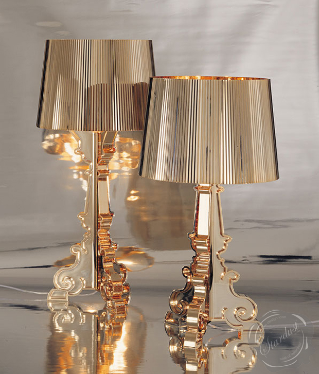 Kartell modern gold flos lamps for Ferruccio laviani bourgie lamp