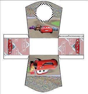cajita abierta imprimible gratis de Cars