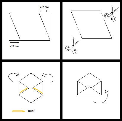 Как сделать конверт большой из бумаги