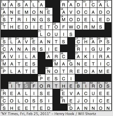Rex Parker Does the NYT Crossword Puzzle: High priest in Aida / FRI 2