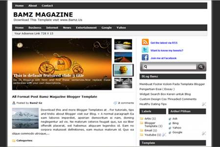 Bamz Magazine Blogger Template