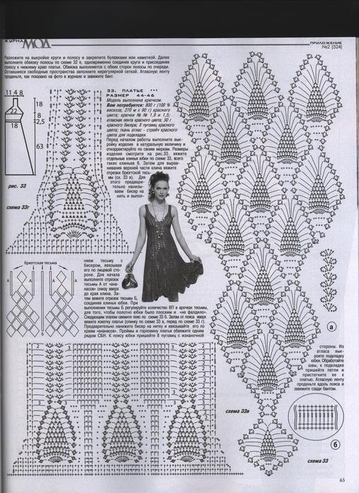 Vestidos a ganchillo con patrones - Imagui