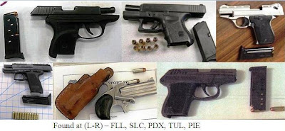6 loaded firearms.