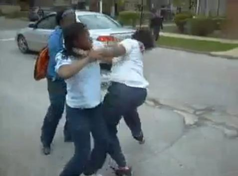Fed up with the elementary school brawls  one man decided to videotape    Fighting In Middle School