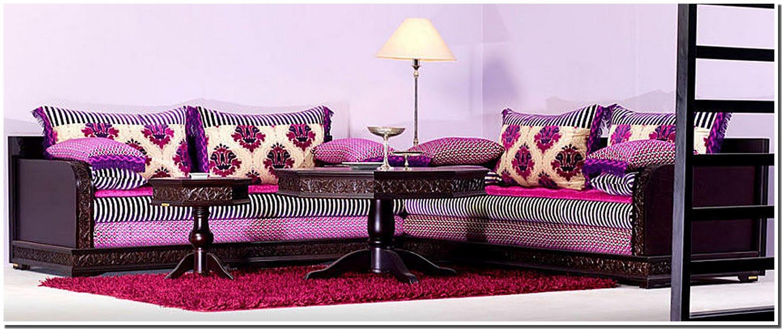 Nassima home salon marocain moderne seddari et ferrachyates couleurs vives for Salon marocain moderne nice
