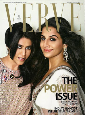 viday balanekta kapoor on the cover of verve magazine india june 2012.