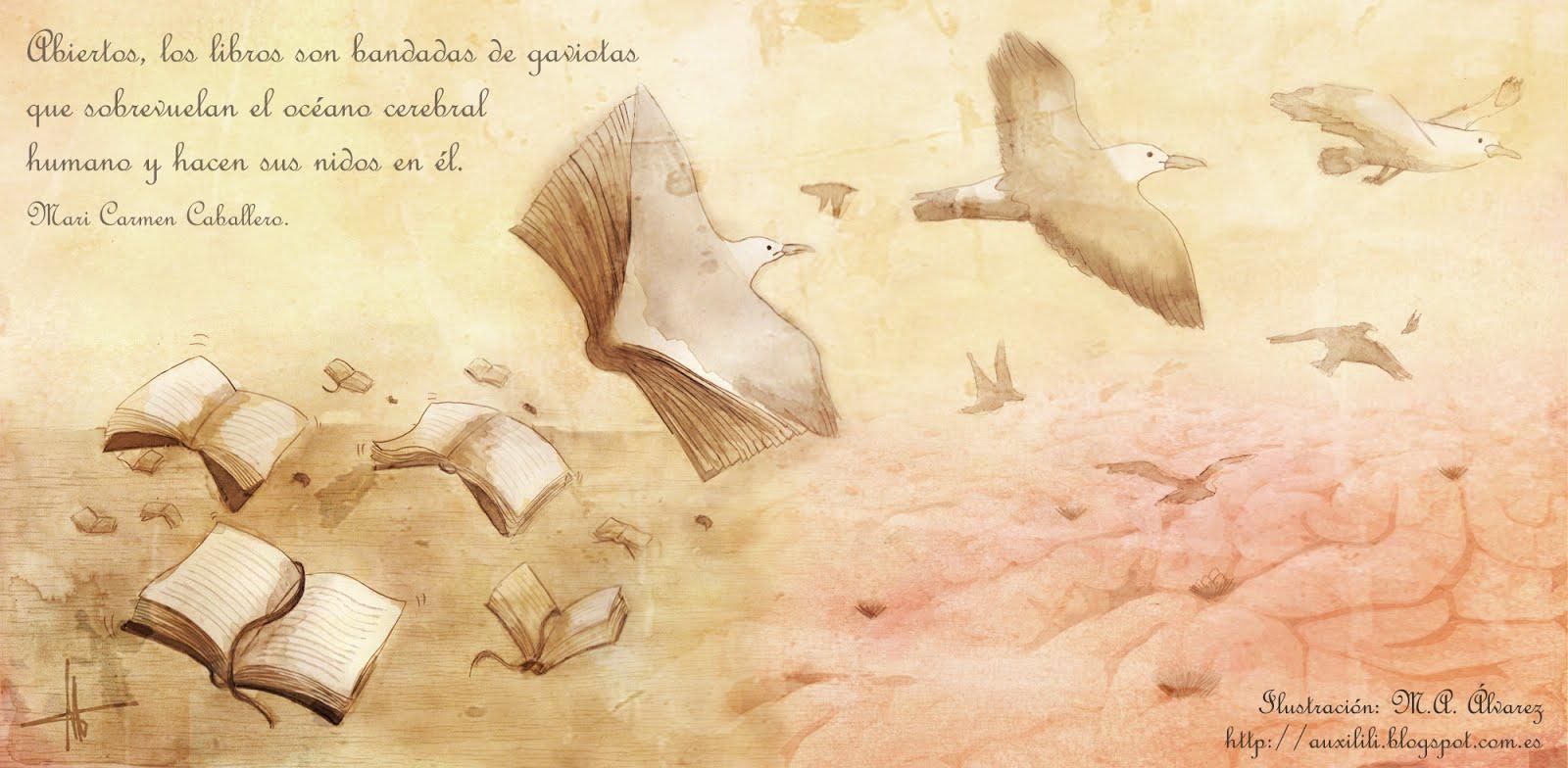 GAVIOTAS: PRECIOSA ILUSTRACIÓN REALIZADA POR M.A. ÁLVAREZ (Mª AUXILIADORA)