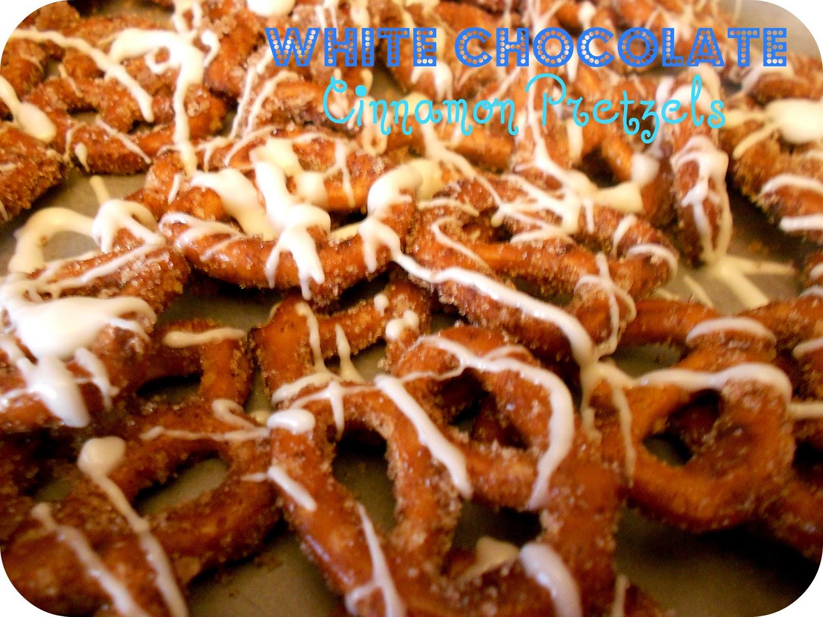 White Chocolate Cinnamon Sugar Pretzels Recipe / Six Sisters' Stuff ...