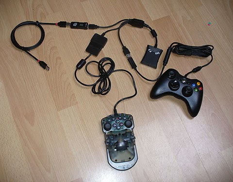 One Hand Controller ULTRA for reconfigurable accessible gaming on PS3, Xbox 360 and Windows PC. Basic mode works on Playstation 2.