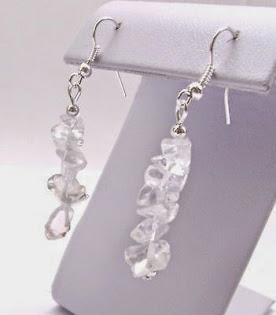Gemstone Chip Earrings $4.49 with Free Shipping