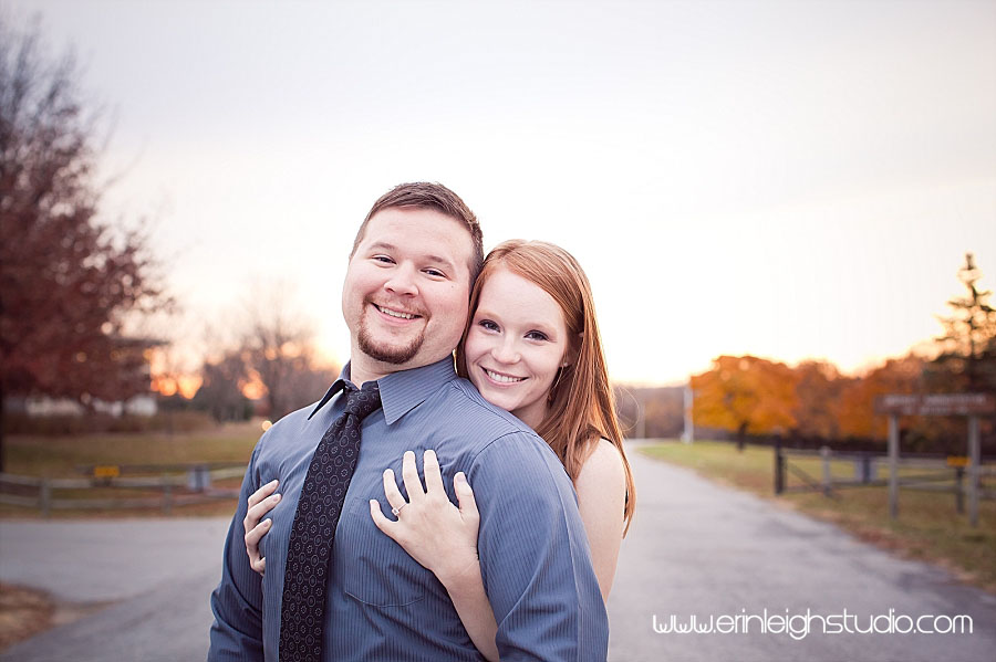 fall engagement session in kansas