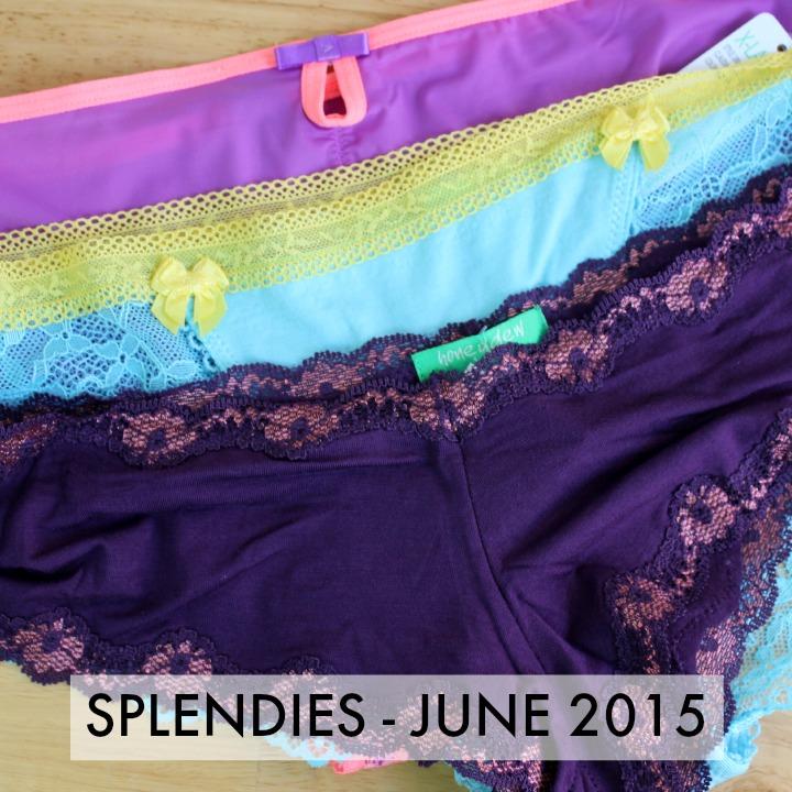 Splendies Underwear Subscription - June 2015 review unboxing