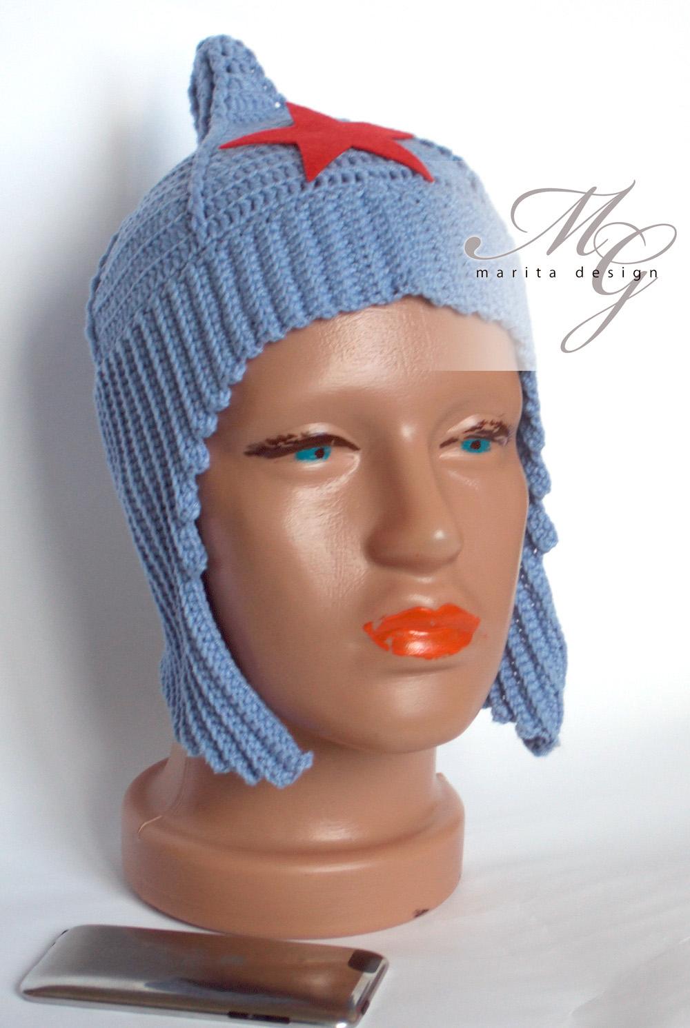 Вязание шапки будёновки 82