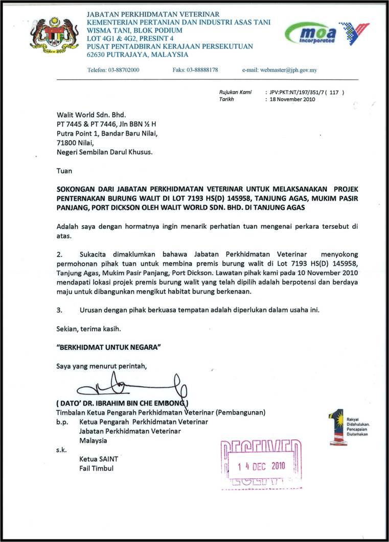 Contoh Surat Rasmi Kepada Ketua Menteri Sabah Rasmi H