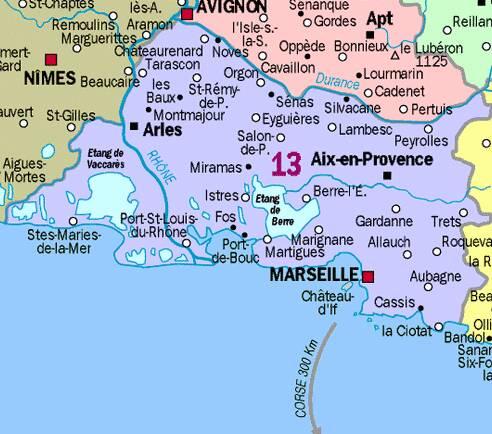 Infos sur region de marseille carte arts et voyages - Office du tourisme des bouches du rhone ...