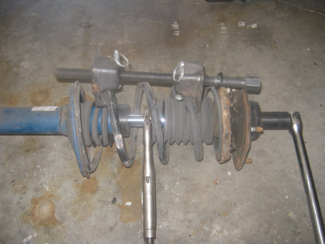 how to make a homemade strut spring compressor