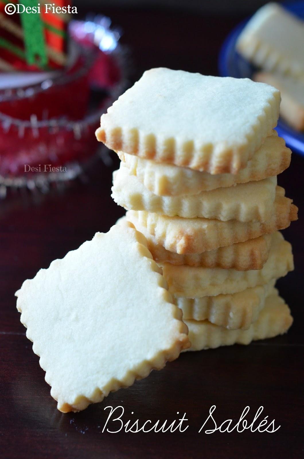 Eggless Short bread cookies