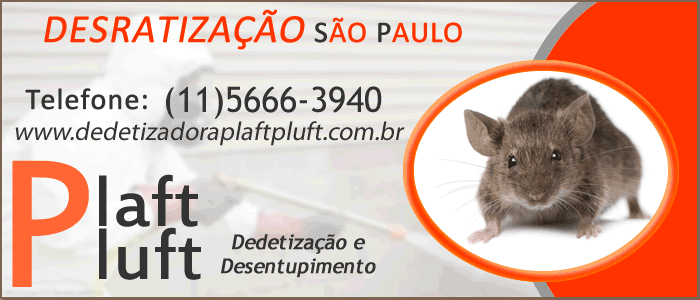Desratização São Paulo 24 Horas - Dedetizadora Plaft Pluft