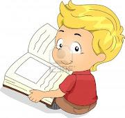 Rendir un homenaje al libro y a sus autores, es estimular, especialmente a . (ilustracion de un nino leyendo un libro)
