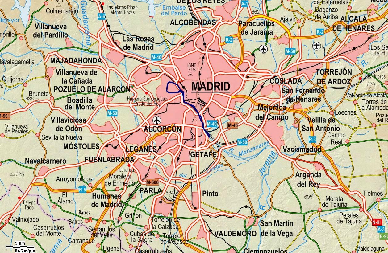 Rutas Por El Interior De La Casa De Campo Ayuntamiento - Mapa De La ...