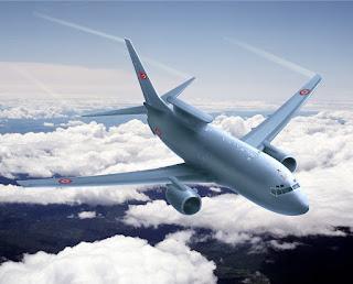 An airplane descending