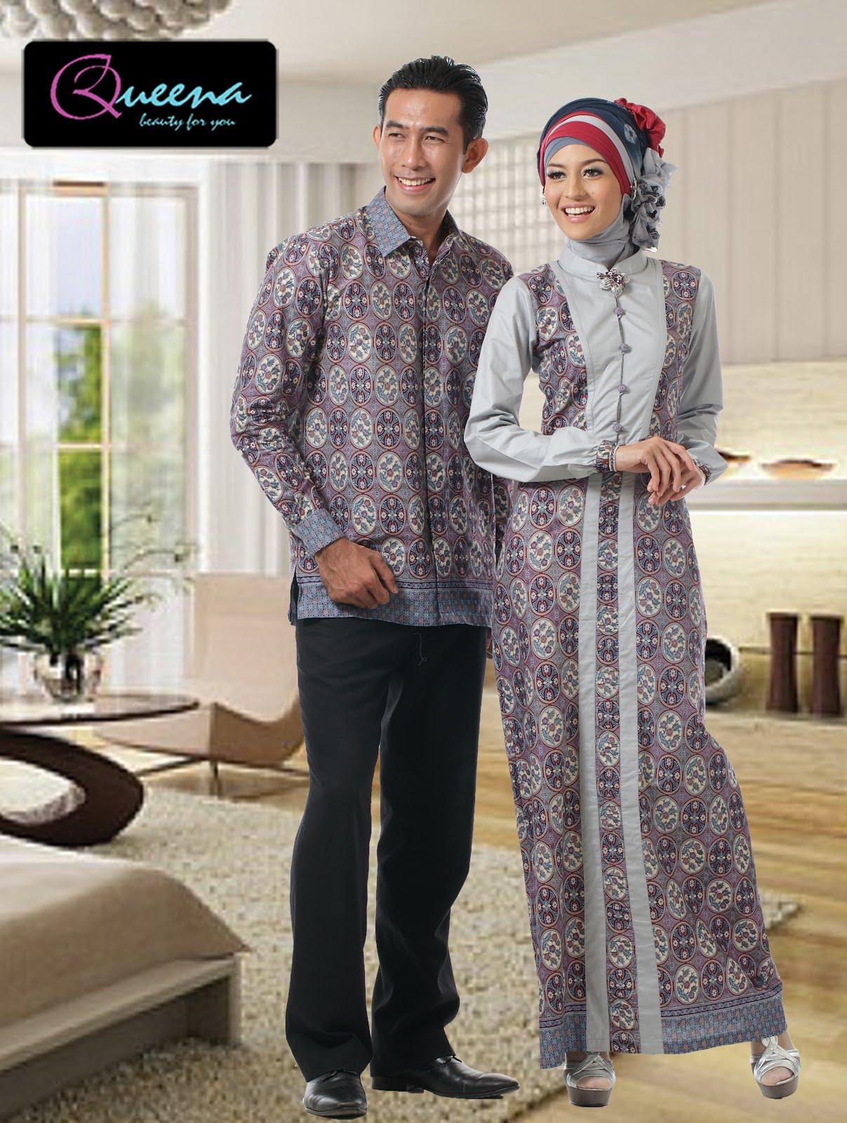 Queena Sarimbit Batik Gamis 059 Silver