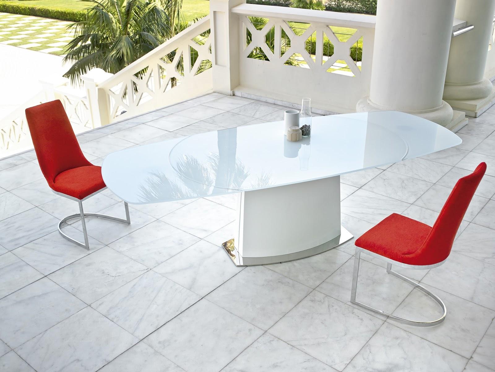 Mesas de comedor mesas de comedor extensibles de cristal for Mesa comedor cristal diseno