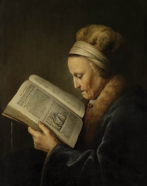 old woman,portrait,bible painting