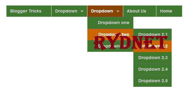 طريقة عمل قائمة منسدلة للتسميات في مدونة بلوجر