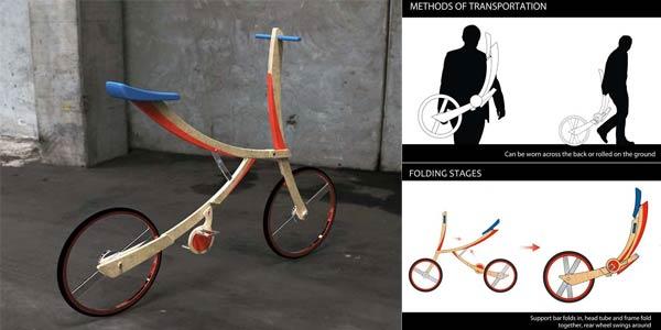 Sepeda Lipat Bergaya Pedang Samurai